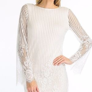 Ivory/white lace dress